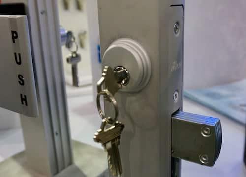 storefront door lock